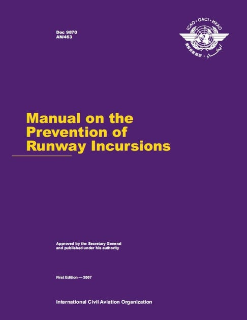 Manual on the Prevention of Runway Incursions (Doc 9870)