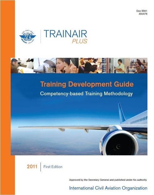 Training Development Guide Competency-Based Training Methodology - (Doc 9941)