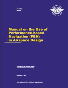 Manual On The Use Of Performance-Based Navigation (PBN) In Airspace Design (Doc 9992)