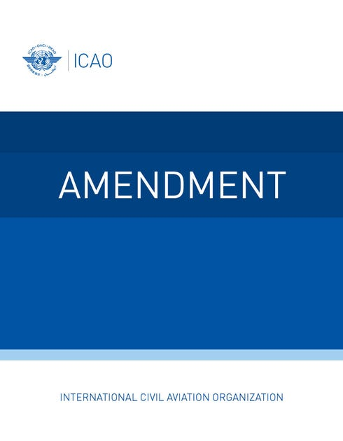 Annex 16 - Environmental Protection - Volume III - Aeroplane CO2 Emissions (Amendment 1 dated 20 July 2020)