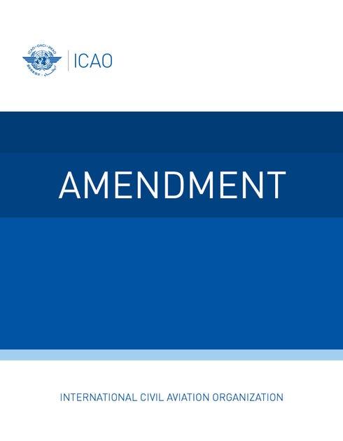 Annex 16 - Environmental Protection - Volume III - Aeroplane CO2 Emissions (Amendment 1 dated 20/07/20)