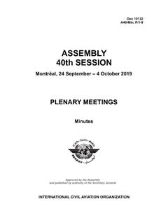 Assembly - Plenary Meetings - Minutes (Doc 10132)