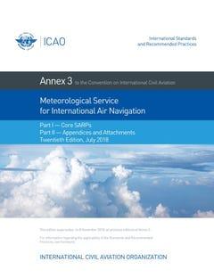 Annex 3 - Meteorological Service for International Air Navigation