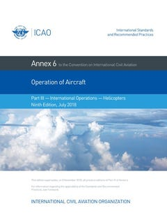 Annex 6 - Operation Of Aircraft - Part III - International Operations - Helicopters