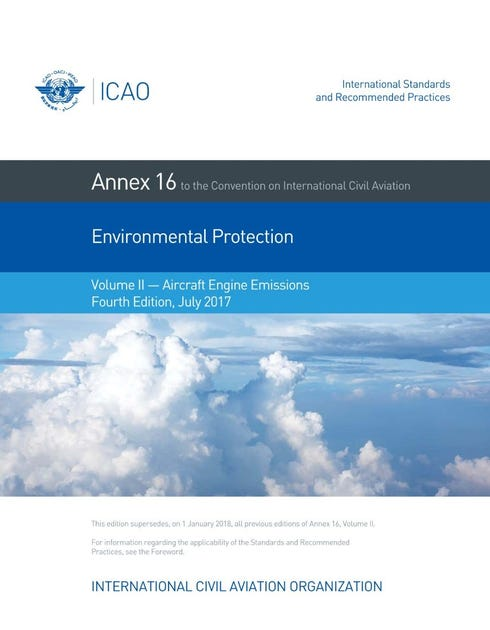 Annex 16 - Environmental Protection - Volume II - Aircraft Engine Emissions