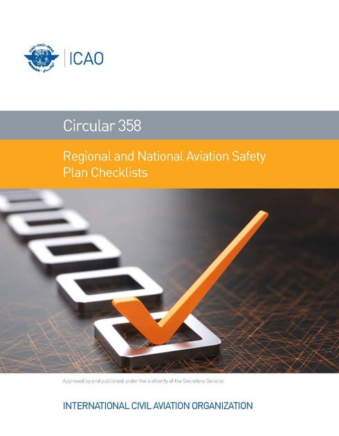 Regional and National Aviation Safety Plan Checklists (CIR 358)