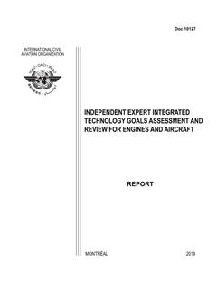 Independent Expert Integrated Technology Goals Assessment and Review for Engines and Aircraft (Doc 10127)