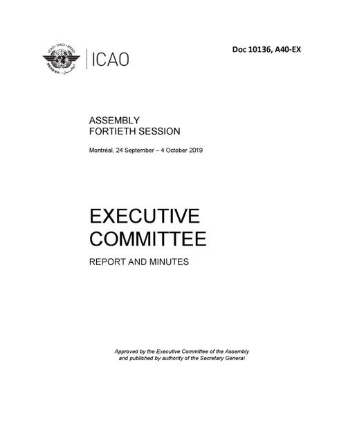 Assembly - Report of the Executive Committee (Doc 10136)