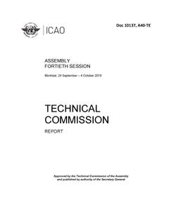Assembly - Report of the Technical Commission (Doc 10137)
