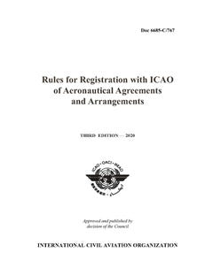 Rules for Registration with ICAO of Aeronautical Agreements and Arrangements (Doc 6685)