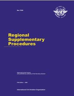 Regional Supplementary Procedures (Doc 7030)