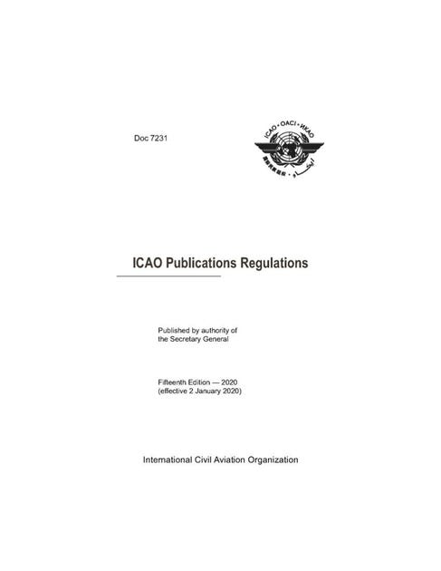 ICAO Publications Regulations (Doc 7231)