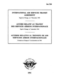 International Air Services Transit Agreement (Doc 7500)