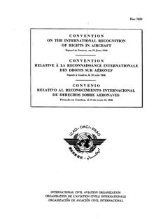 Convention on the International Recognition of Rights in Aircraft (Doc 7620)