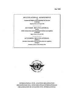 Multilateral Agreement on Commercial Rights of Non-Scheduled Air Services in Europe (Doc 7695)