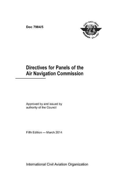 Directives for Panels of the Air Navigation Commission (Doc 7984)