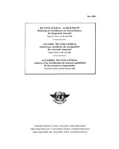 Multilateral Agreement relating to Certificates of Airworthiness for Imported Aircraft (Doc 8056)