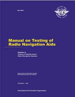 Manual on Testing of Radio Navigation Aids - Volume II - Testing of  Satellite-based Radio Navigation Systems (Doc 8071 - Vol 2)
