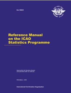 Reference Manual on the ICAO Statistics Programme (Doc 9060)