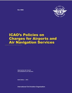 ICAO's Policies on Charges for Airports and Air Navigation Services (Doc 9082)