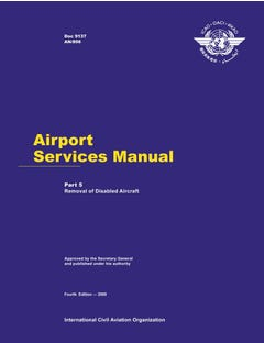 Airport Services Manual - Part V - Removal of Disabled Aircraft (Doc 9137P5)