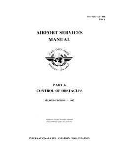 Airport Services Manual - Part VI - Control of Obstacles (Doc 9137P6)