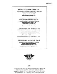 Additional Protocol No  1 to Amend the Convention for the Unification of Certain Rules Relating to International Carriage by Air Signed At Warsaw on 12 October 1929  (Doc 9145)
