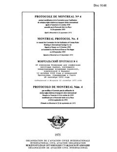 Montreal Protocol No  4 to Amend the Convention for the Unification of Certain Rules Relating to International Carriage by Air Signed at Warsaw on 12 October 1929 as Amended by the Protocol Done at The Hague on 28 September 1955  (Doc 9148)