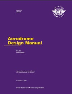 Aerodrome Design Manual - Part 6 - Frangibility  (Doc 9157 - Part 6)