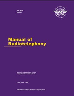 Manual of Radiotelephony (Doc 9432)