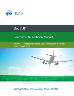 Environmental Technical Manual - Volume I - Procedures for the Noise Certification of Aircraft (Doc 9501-1)