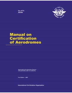 Manual on Certification of Aerodromes (Doc 9774)