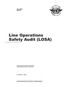 Line Operations Safety Audit (LOSA)  (Doc 9803)