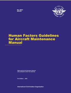 Human Factors Guidelines For Aircraft Maintenance Manual (Doc 9824)