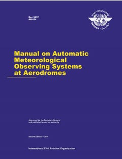 Manual on Automatic Meteorological Observing Systems at Aerodromes (Doc 9837)