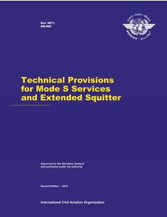 Technical Provisions for Mode S Services and Extended Squitter  (Doc 9871)