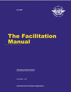 The Facilitation Manual (Doc 9957)