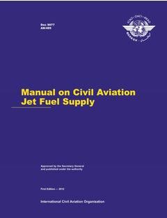 Manual on Civil Aviation Jet Fuel Supply (Doc 9977)