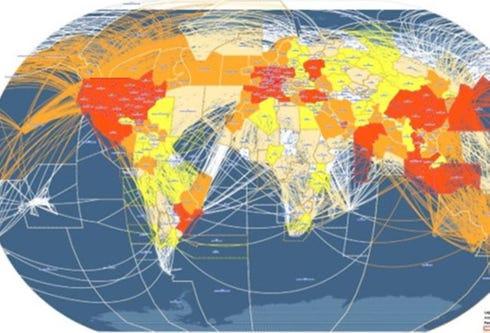 ICAO Traffic Flight Growth (Movements per FIR) (also Rank)