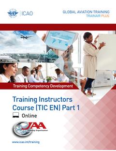 Training Instructors Course (TIC) Part 1 - Instructional Competencies: Online